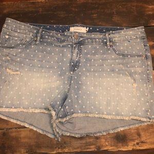 Torrid Size 22 Polka Dot Denim Shorts
